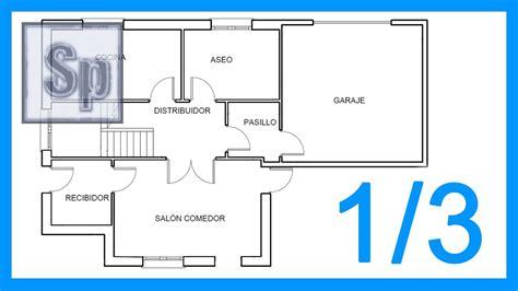Autocad - 1/3 Dibujar el plano de una casa paso a paso en ...
