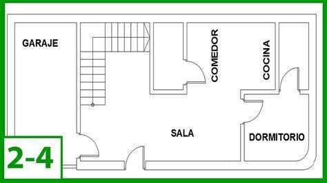 Autocad - Cómo Dibujar un plano de una casa, puertas y ...