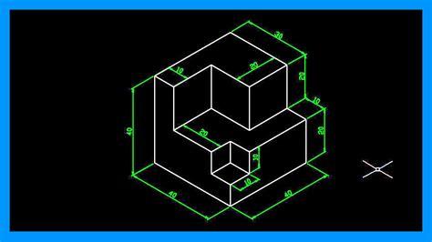 Autocad - Dibujar en isométrico. Crear dibujo isométrico ...