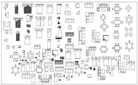 autocad Furniture Block Design