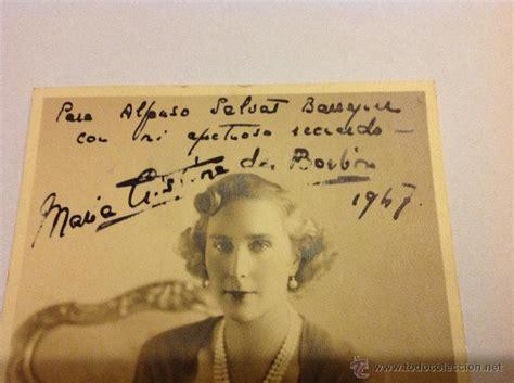 autógrafo maria cristina de borbon y battenberg - Comprar ...