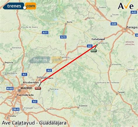 AVE Calatayud Guadalajara baratos, billetes desde 16,40 ...