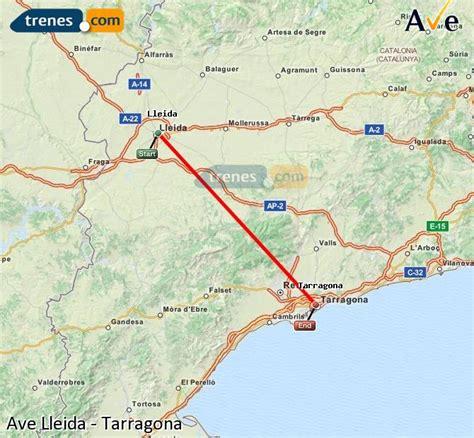 Ave Lleida Tarragona billetes baratos desde 6.00