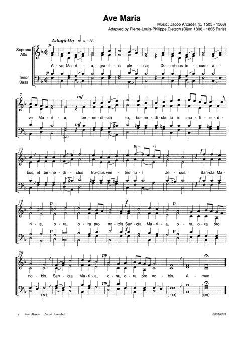 Ave Maria  Arcadelt, Jacob    IMSLP/Petrucci Music Library ...