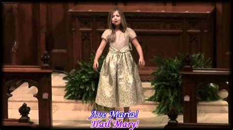 Ave Maria by Jackie Evancho with lyrics and English ...