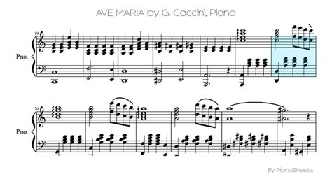 Ave Maria Caccini Sheet music free