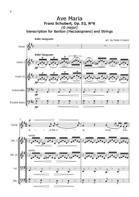 Ave Maria (F. Schubert) - G major - for Bariton ...