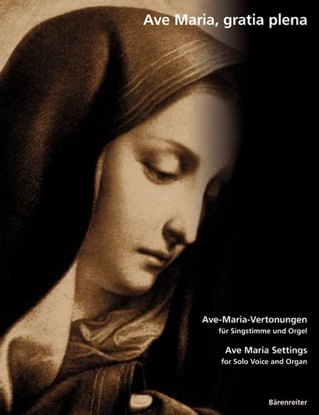 Ave Maria, Gratia Plena Sheet Music   Sheet Music Plus