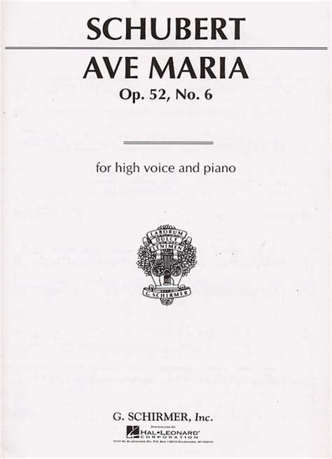 Ave maria Latin sheet music