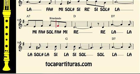Ave María Partitura con Notas para Flauta Tonalidad fácil ...