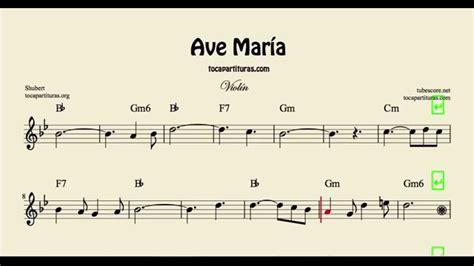 Ave María Partitura de Violín con acordes - YouTube