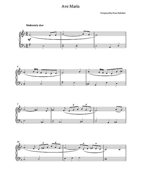 Ave Maria partituras por Franz Schubert (Piano – 18844)