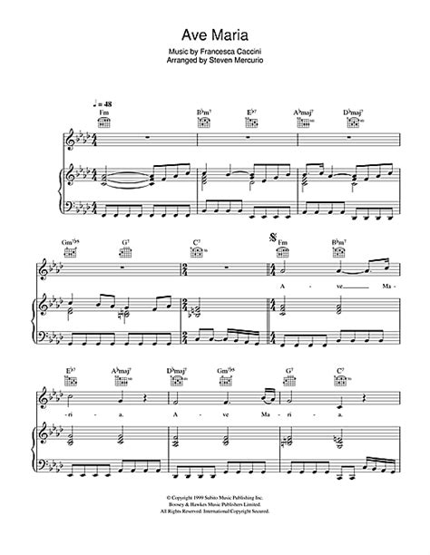 Ave Maria partituras por Hayley Westenra (Piano, Voz y ...