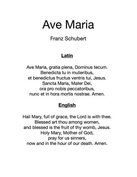 Ave Maria (Schubert) - The Accompaniment Company Piano ...