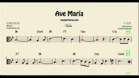 Ave María Sheet Music for Viola with Chords - YouTube