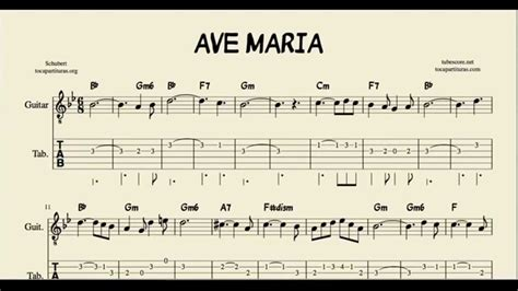 Ave Maria Tabs Sheet Music for Guitar with Chords ...