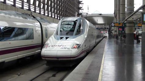 AVE S/112 Madrid Zaragoza saliendo de Atocha   YouTube