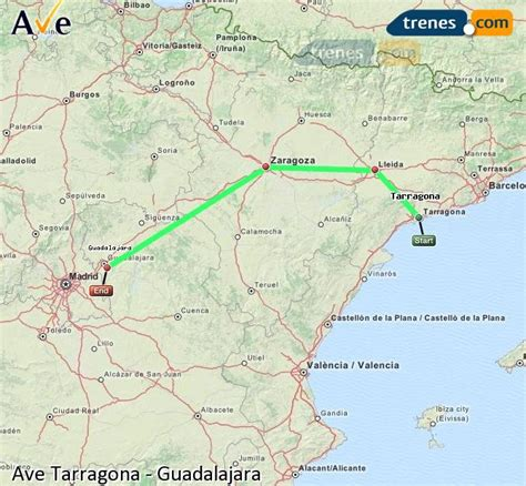 AVE Tarragona Guadalajara baratos, billetes desde 52,90 ...
