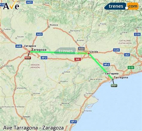 AVE Tarragona Zaragoza baratos, billetes desde 24,10 ...