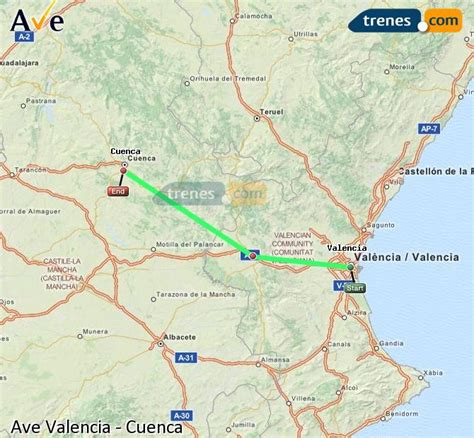 AVE Valencia Cuenca baratos, billetes desde 9,85 ...