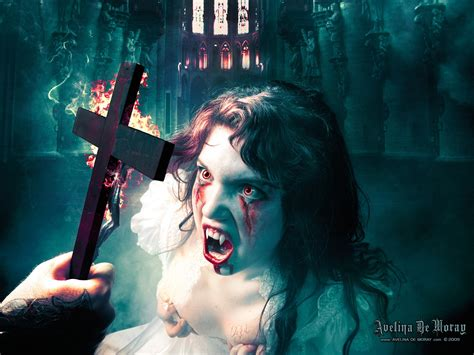 Avelina De Moray dark horror vampires halloween evil cross ...