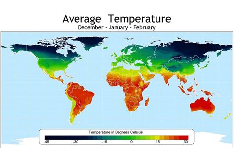 Average Temperatures By Season World Map   Maps on the Web
