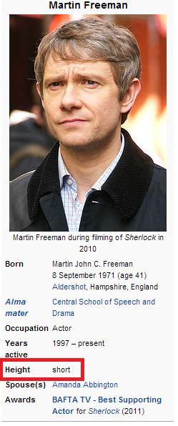 Aww! He's fun size!! Martin Freeman --- {I find it mean ...
