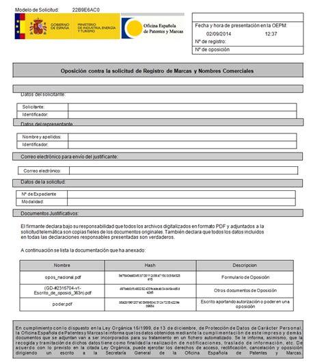 Axesor - Ejemplos OPOSICION A LA SOLICITUD DE UNA MARCA ...