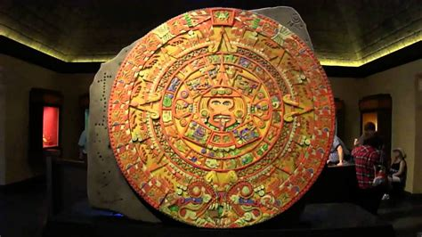 Aztec Calendar Projection at Epcot (2014) - YouTube