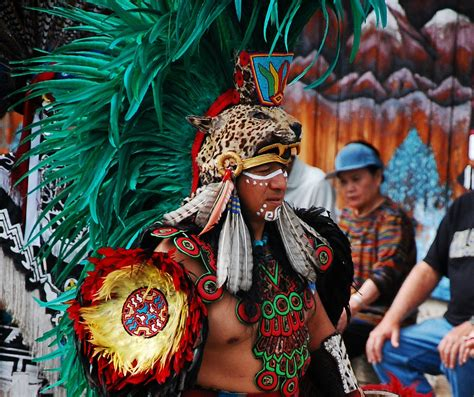 Aztec Indian Dancers , from Central Mexico, performing ...