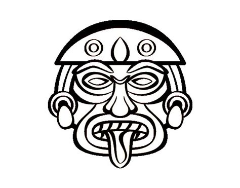 Aztec Mask Coloring Pages Page - grig3.org