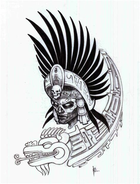 Aztec Warrior | Aztec Warrior Outlines Pictures | tattoos ...