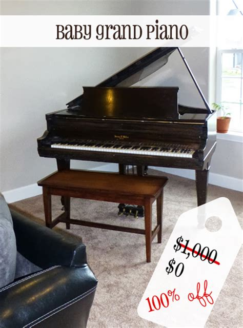 Baby Grand Piano for FREE, valued at $1,000 {Secondhand ...