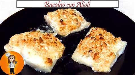 Bacalao con alioli al Horno | Receta de Cocina en Familia ...