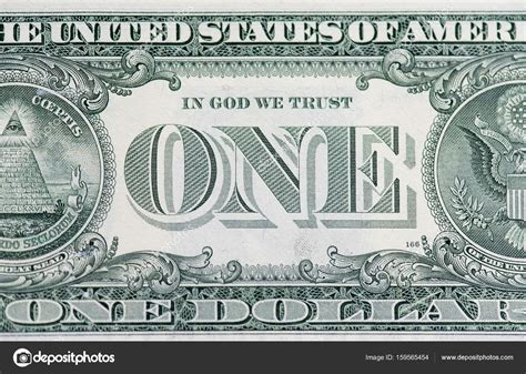 Back side of the one American dollar — Stock Photo ...