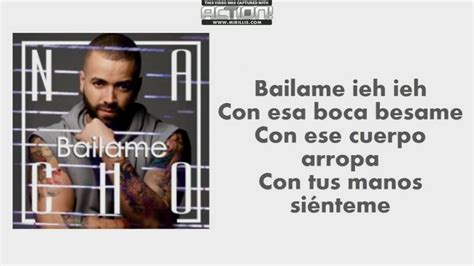 Bailame - Nacho - Letra - Lyrics - YouTube