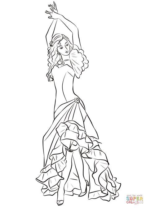 Bailarina De Flamenco Para Colorear - Opticanovosti ...