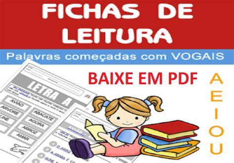 BAIXE EM PDF - Fichas de Leitura para 1º ano — SÓ ESCOLA