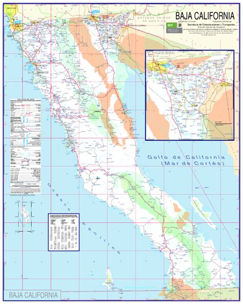 Baja California Map - North - Playa la Costilla Mexico ...