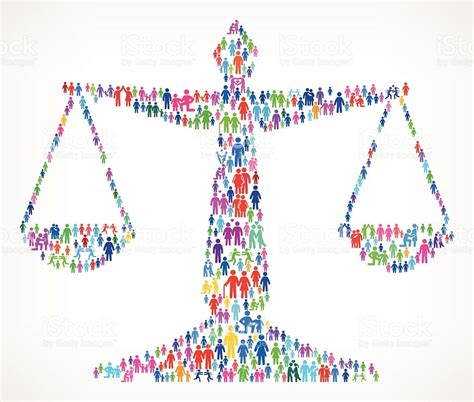 Balanza De La Justicia En Vector Patrón De Fondo Familia ...