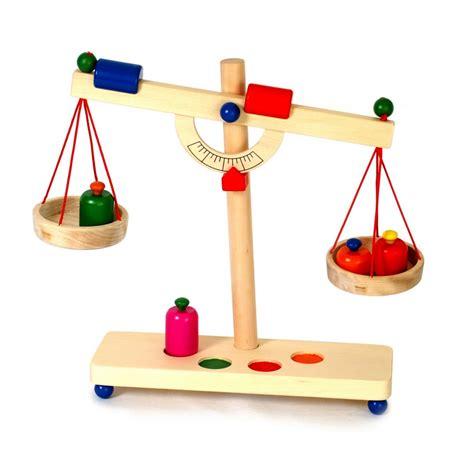 Balanza romana para jugar -Juguetes de Madera