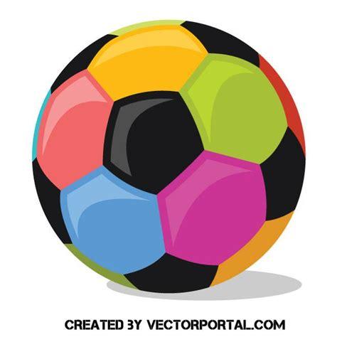 Balón de fútbol con diferentes colores   Vectores Gratis ...