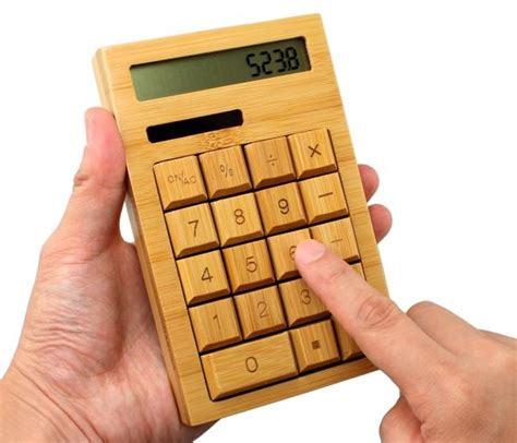 Bamboo Calculator Is a Throwback to Old School Solar ...
