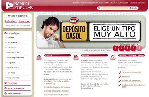 Banca por Internet del Banco Popular - Blog de Opcionis