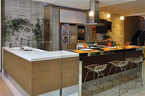 Bancada de cozinha americana em l | Decorando Casas