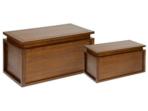 Banco baulero de madera con cojín - Bancos decorativos