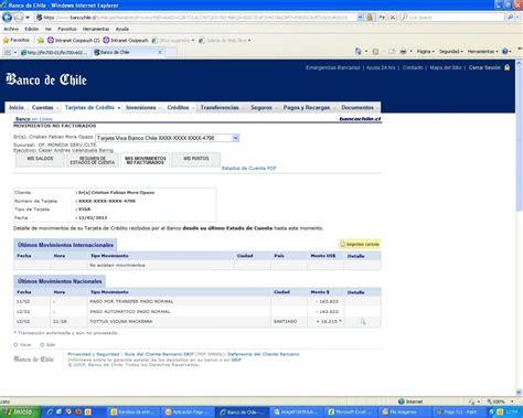 Banco De Chile   Cobros Automaticos E Interes Sin ...
