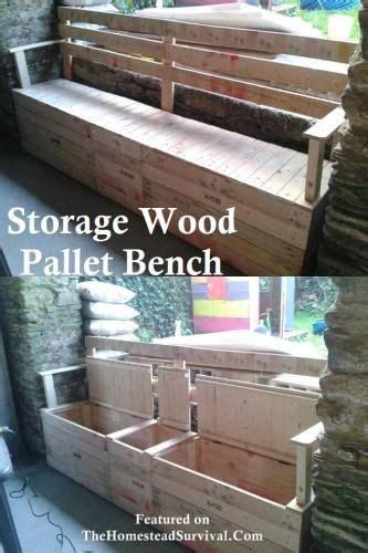 Banco de madera exterior hecho con pallets con hueco para ...