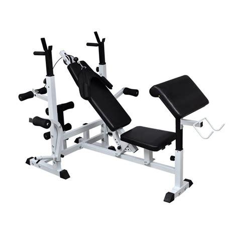 Banco de musculación con pesas | vidaXL.es