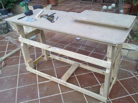 Banco de trabajo con madera de palet | Bricolaje